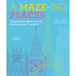 A-Maze-Ing Places Maze Book Older Person